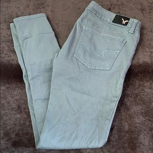 Light green American eagle jeans